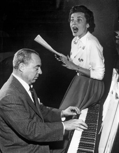 Richard Rodgers Composer Richard Rogers and actress Isabel Bigley