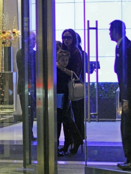 Harper Beckham Out at Maze Restaurant in London UK