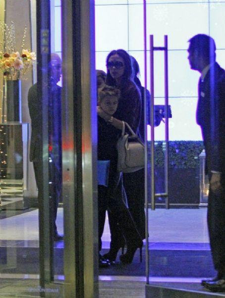 Harper Beckham Out at Maze Restaurant in London UK