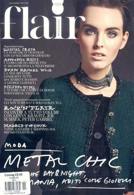 Myf Shepherd - Flair Magazine Cover [Italy] (November 2011)
