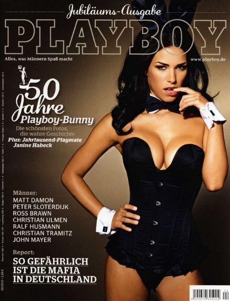 Janine Habeck - Playboy Magazine Cover [Germany] (April 2010)