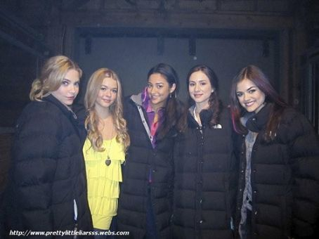 Troian Bellisario On Location of Pretty Little Liars
