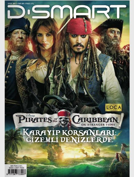 Ian McShane, Johnny Depp, Penélope Cruz, Geoffrey Rush - D-Smart Magazine Cover [Turkey] (September 2011)