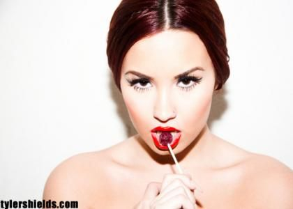 Demi Lovato's Lollipopin' Tyler Shields Photo Shoot