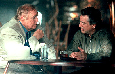 Marlon Brando and Robert De Niro in Paramount's The Score - 2001