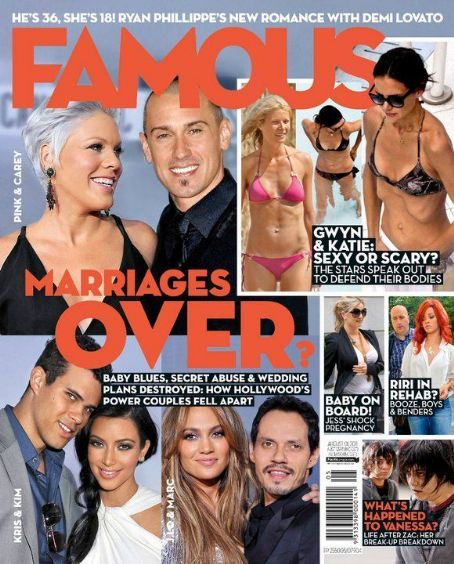 Marc Anthony, Jennifer Lopez, Pink, Kim Kardashian - Famous Magazine Cover [Australia] (1 August 2011)