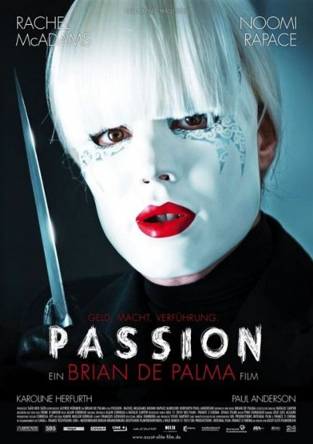 PASSiON Rachel McAdams Noomi Rapace Brian De Palma LARGE French POSTER