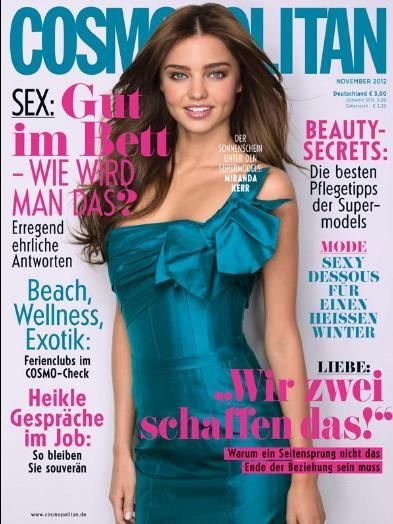 Miranda Kerr - Cosmopolitan Magazine Cover [Germany] (November 2012)