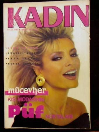Ajda Pekkan - Kadin Magazine Cover [Turkey] (September 1987)
