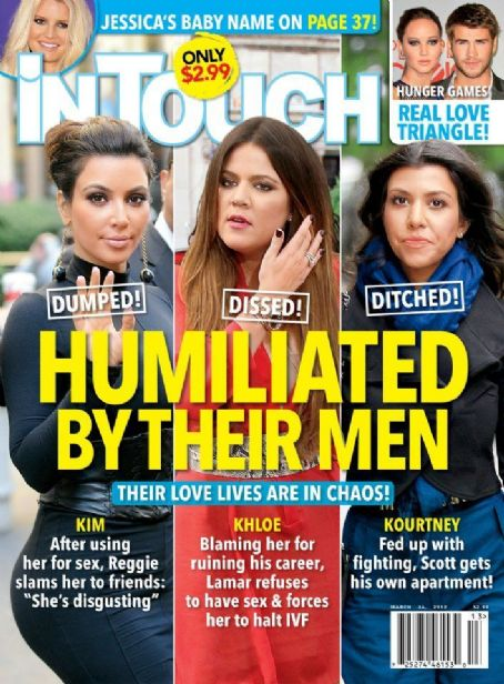 Kourtney Kardashian, Khloé Kardashian, Kim Kardashian - In Touch Weekly Magazine Cover [United States] (26 March 2012)