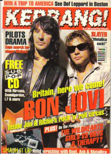 Richie Sambora, Jon Bon Jovi - Kerrang Magazine Cover [United Kingdom] (8 July 1996)