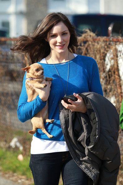 Katharine McPhee on the set of Smash in New York City