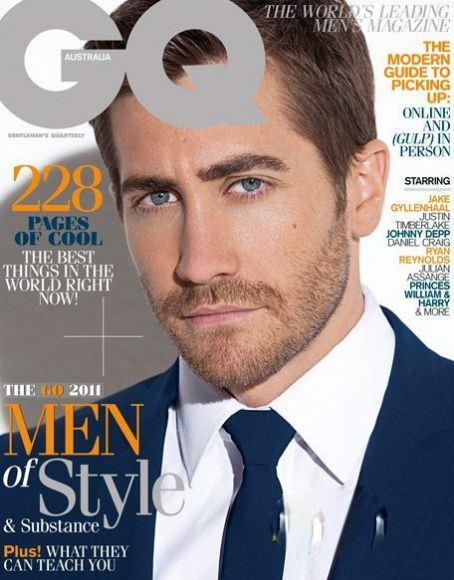 Jake Gyllenhaal - GQ Magazine Cover [Australia] (August 2011)