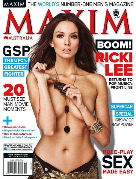 Ricki-lee Coulter - Maxim Magazine Cover [Australia] (November 2011)