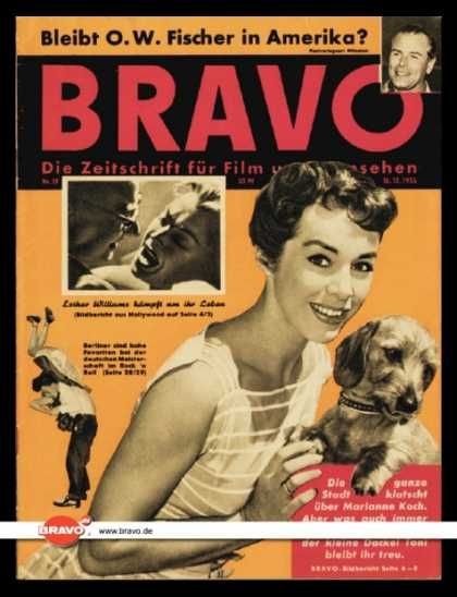 Marianne Koch - Bravo Magazine Cover [Germany] (16 December 1956)