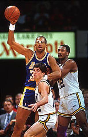 Kareem Abdul-Jabbar Kareem with Karl Malone & John Stockton
