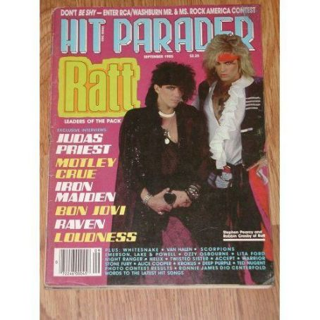 Robbin Crosby, Stephen Pearcy - Hit Parader Magazine Cover [United States] (September 1985)