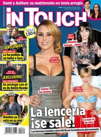 Sara Carbonero, Iker Casillas, Berta Collado - In Touch Magazine Cover [Spain] (22 November 2011)