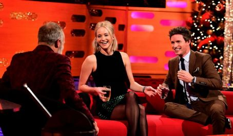 Graham Norton, Jennifer Lawrence and Eddie Redmayne on The Graham Norton Show