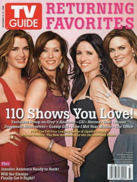 Brooke Shields, Kate Walsh, Emily Deschanel - TV Guide Magazine Cover [United States] (15 October 2008)