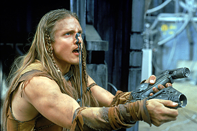 Battlefield Earth: A Saga of the Year 3000 Barry Pepper as Jonnie Goodboy Tyler in Warner Brothers' Battlefield Earth - 2000