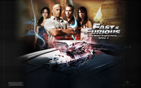 Paul Walker and Jordana Brewster Fast and Furious Wallpaper