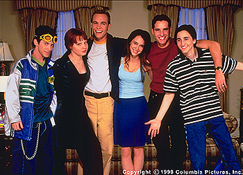Can't Hardly Wait Seth Green, Lauren Ambrose, Ethan Embry, Jennifer Love Hewitt, Peter Facinelli and Charlie Korsmo in Columbia's Can't Hardly Wait - 1998