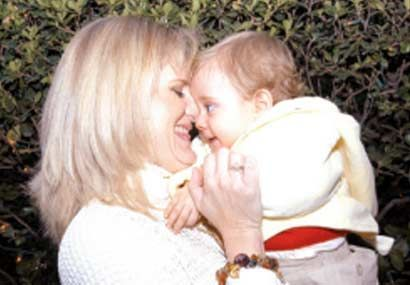 Erika Buenfil  and son