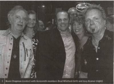 Joey Kramer Kimberly Whitford and Brad Whitford with Kevin Chapman and Joey and April Kramer