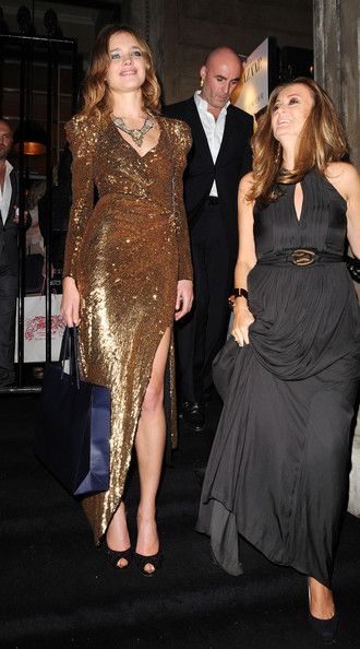 Russian model Natalia Vodianova arrives at Harper's Bazaar 'Women Of the Year Awards', held at One Mayfair in London