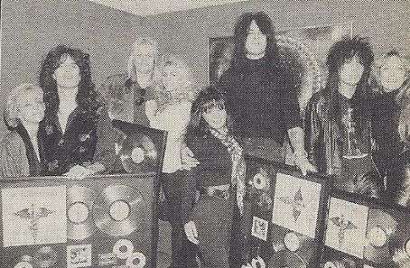 Heather Locklear and Tommy Lee with Mick Mars and Emi Canyn, Vince and Sharise Neil, Nikki Sixx and Brandi Brandt
