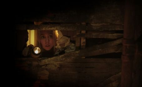 Danielle (Alanna Chisholm) to a closet where she suspects there is a secret space behind it. Directed by Brett Sullivan