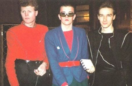 Midge Ure Rusty Egan, Steve Strange and  in Bright 80's Colors