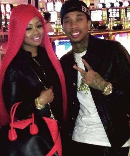 Blac Chyna Tyga and  on New Years