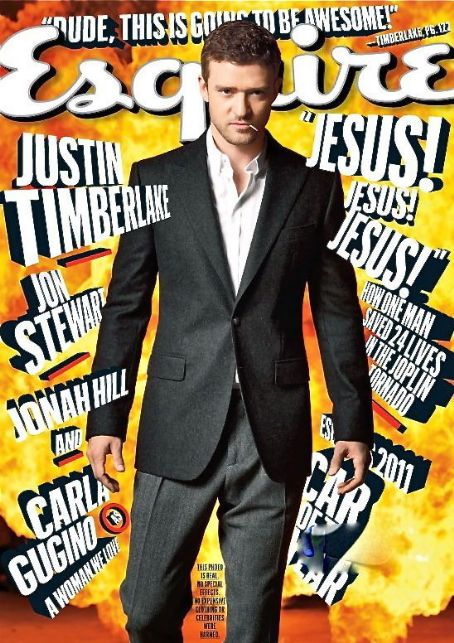 Justin Timberlake - Esquire Magazine Cover [United States] (October 2011)