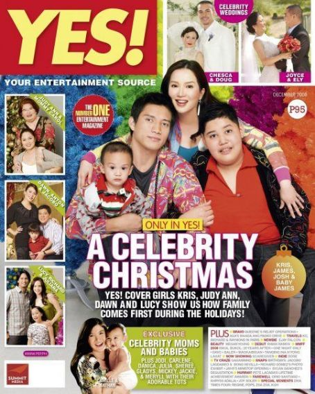 Kris Aquino, James Yap - Yes! Magazine Cover [Philippines] (December 2008)