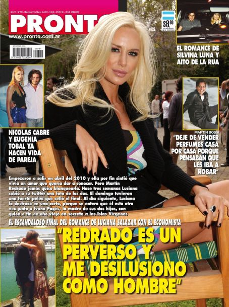 Luciana Salazar - Pronto Magazine Cover [Argentina] (2 March 2011)