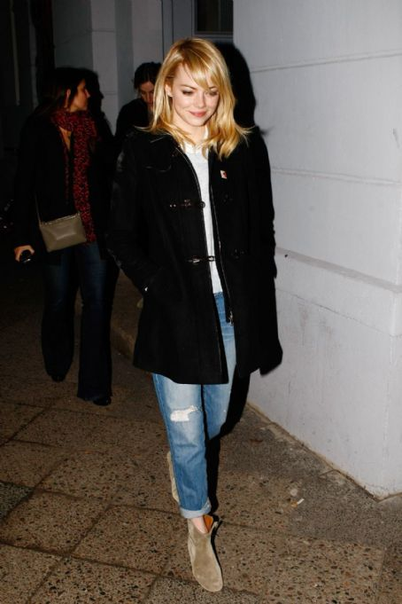 Emma Stone: at Grand Restaurant in Berlin