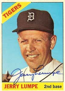 Jerry Lumpe Autograph on a 1966 Topps (#161)