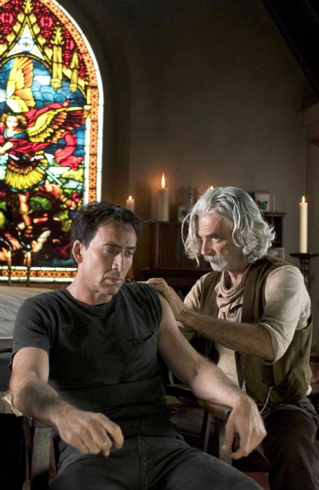 Nicolas Cage (left) and Sam Elliott (right) star in Columbia Pictures' Ghost Rider. Photo By: Jasin Boland