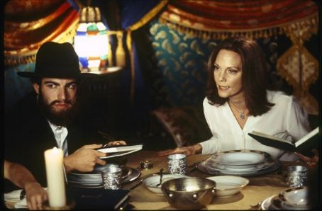 Max Greenfield  as Ethan Stuckman play with Lesley Ann Warren as Peggy Stuckman in comedy drama When Do We Eat - 2006