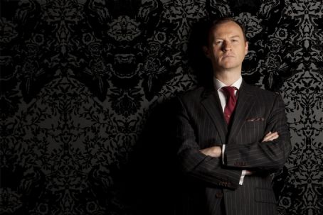 Mark Gatiss  as Mycroft Holmes in Sherlock (2010)