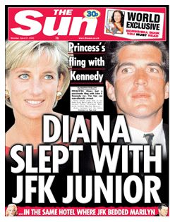 John Kennedy, Jr., Princess Diana