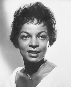 Ruby Dee Posing on a set of a movie