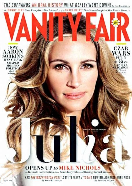 Julia Roberts: My Kids Have No Idea I'm Famous! Vanity Fair Cover April 2012