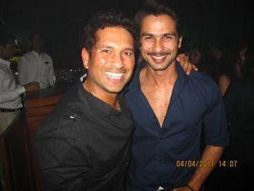 Sachin Tendulkar  and Shahid Kapoor - the two LEGENDS..