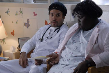Gabourey Sidibe Nurse John (Lenny Kravitz) and Precious () in PRECIOUS: BASED ON THE NOVEL 'PUSH' BY SAPPHIRE. Photo credit: Anne Marie Fox.