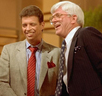 Phil Donahue Phil with Morton Downey Jr.