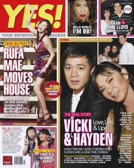 Vicky Belo, Hayden Kho - Yes Magazine Cover [Philippines] (March 2009)