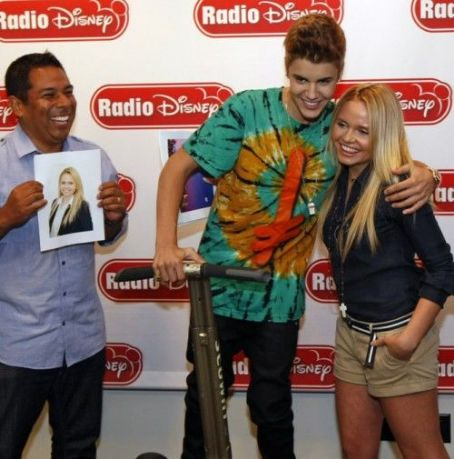 Justin Bieber riding on Segway during interview with Radio Disney